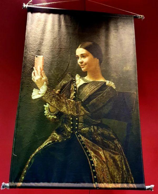 Wanddoek wandkleed canvasdoek portret.