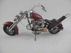 Motor antiek rood blik shopper