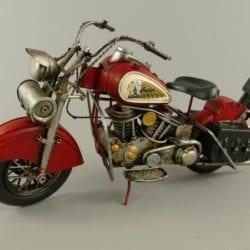 Motor indian rood blik