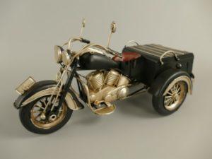 Motorfiets 3driewieler antiek blik
