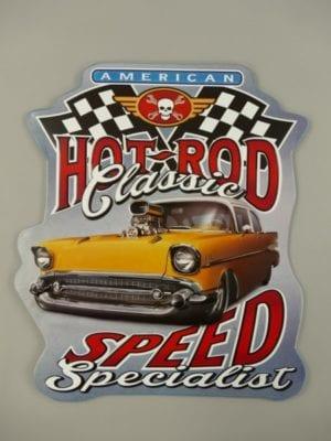 Wandbord garage Hotrod spees