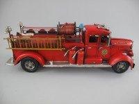 Brandweerauto antieke blik