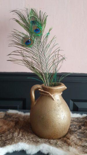 Kruik aardewerk goud Jar akita