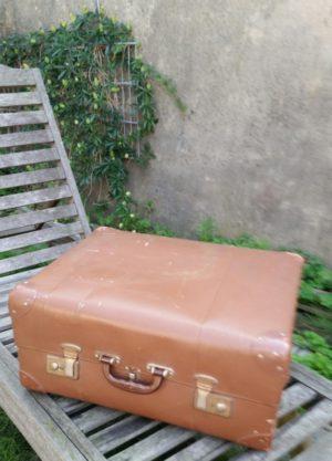 Brocante oude koffer bruin
