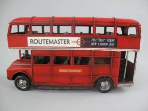 Auto bus dubbeldekker rood