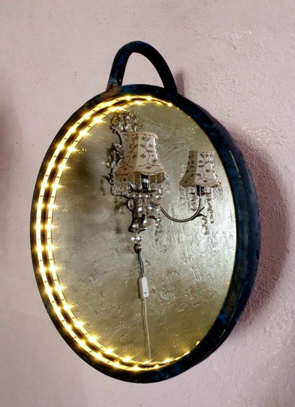 Spiegel stoer met ledverlichting