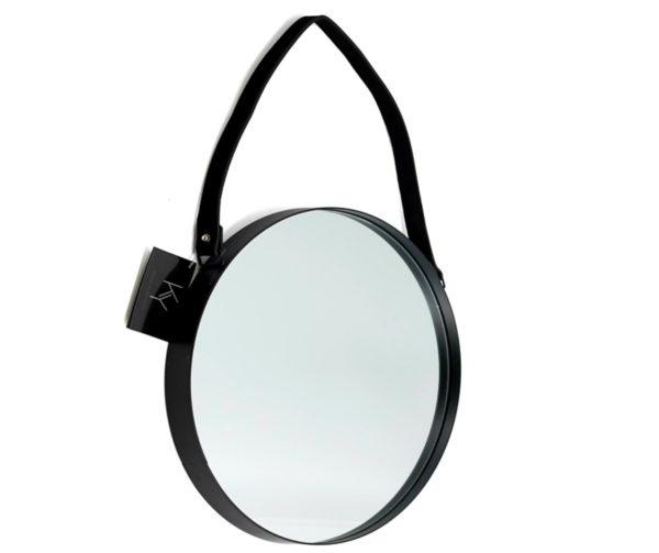 Spiegel Zwart rond