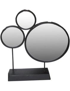 Spiegel  rond zwart op standaard