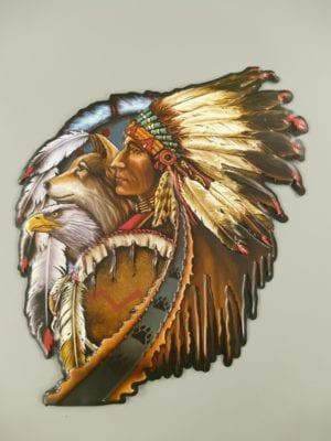 wandplaat indiaan