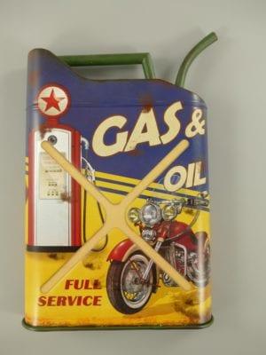 Wandbord reclamebord jerrycan Gas oil