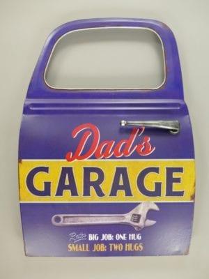 Wandbord reclamebord autodeur garage