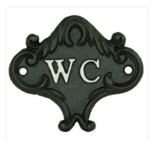 Toiletbordje van gietijzer zwart