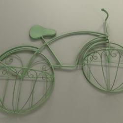 Metalen plantenbak model fiets