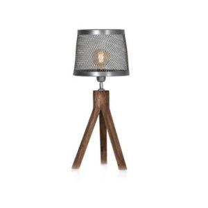 Tafellamp houten met opengewerkte kap