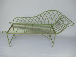 Metalen klassieke sofa tuinbank groen