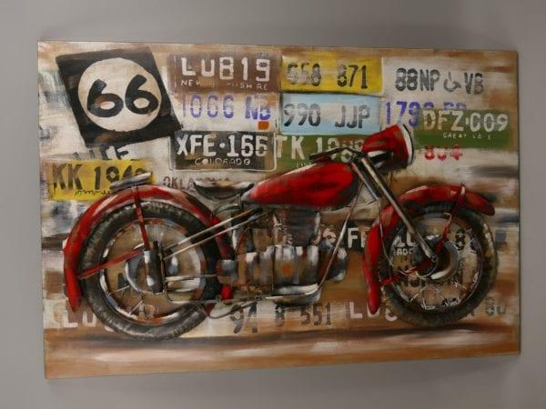 Motor 3D schilderij metaal