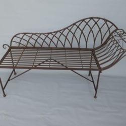 Metalen klassieke tuinbank sofa bruin