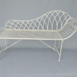 Metalen klassieke sofa tuinbank wit