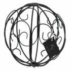 Metalen decoratiebal zwart