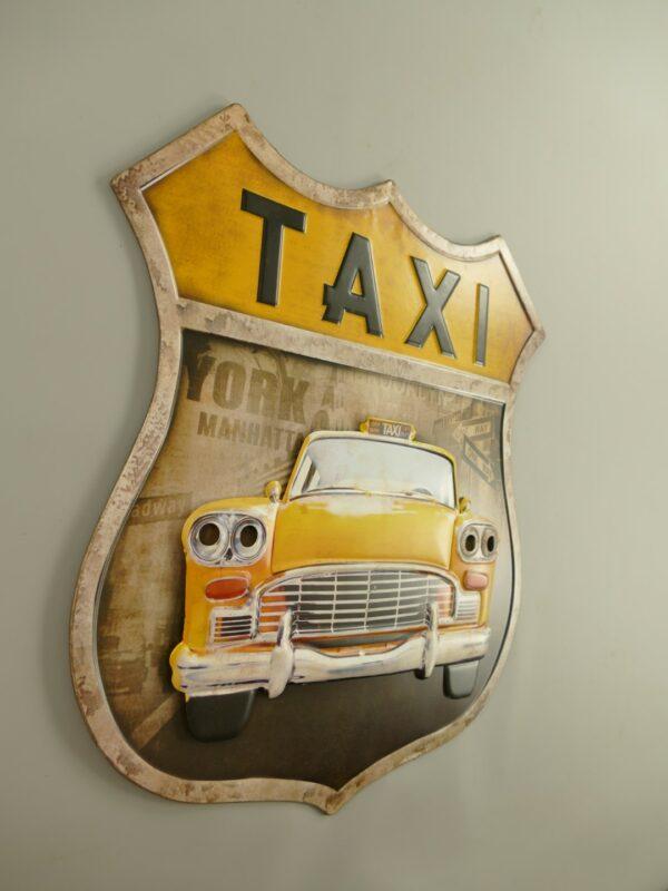 wandbord Taxi geel